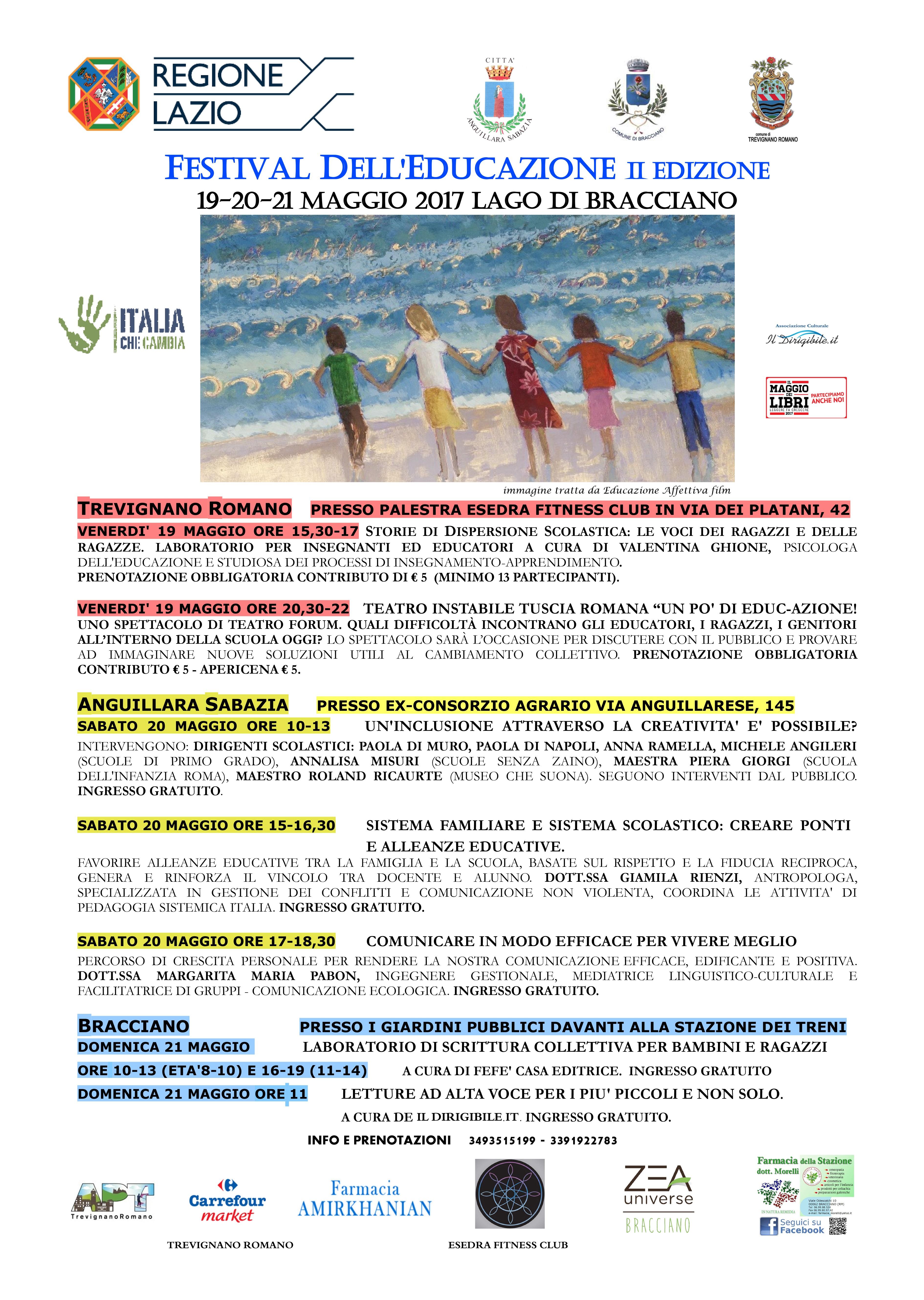 FESTIVAL DELL'EDUCAZIONE 19-20 MAGGIO 2017